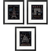 Framed Travel to Paris 3 Piece Framed Art Print Set