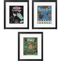 Framed Cocktail Lounge 3 Piece Framed Art Print Set