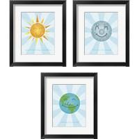 Framed Smiley 3 Piece Framed Art Print Set