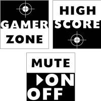 Framed Game Zone 3 Piece Art Print Set