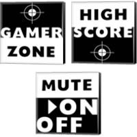 Framed Game Zone 3 Piece Canvas Print Set