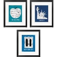Framed Iconic NYC 3 Piece Framed Art Print Set