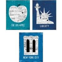 Framed Iconic NYC 3 Piece Art Print Set