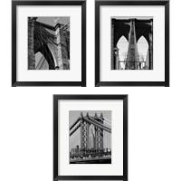 Framed Bridges of NYC 3 Piece Framed Art Print Set