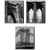 Framed Bridges of NYC 3 Piece Canvas Print Set