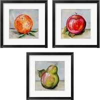 Framed Abstract Kitchen Fruit 3 Piece Framed Art Print Set