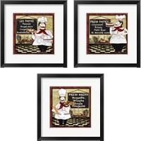 Framed Bistro Chef 3 Piece Framed Art Print Set