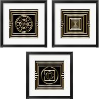 Framed Gold Deco 3 Piece Framed Art Print Set