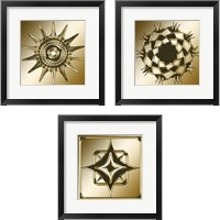 Framed Gold Coffee 3 Piece Framed Art Print Set