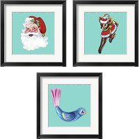 Framed 1955 Christmas 3 Piece Framed Art Print Set
