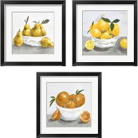 Framed Fruit Bowl 3 Piece Framed Art Print Set
