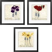Framed Inspired Flower 3 Piece Framed Art Print Set