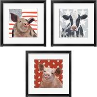 Framed Patriotic Farm 3 Piece Framed Art Print Set