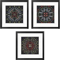 Framed Folk Mandala 3 Piece Framed Art Print Set