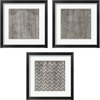 Framed Weathered Wood Patterns 3 Piece Framed Art Print Set