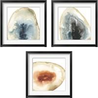 Framed Cropped Geodes 3 Piece Framed Art Print Set