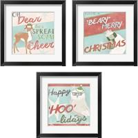 Framed Retro Christmas 3 Piece Framed Art Print Set