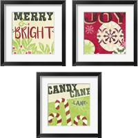 Framed Let's Get Jolly 3 Piece Framed Art Print Set