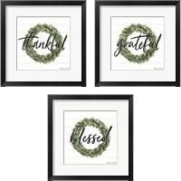 Framed Blessed & Grateful 3 Piece Framed Art Print Set