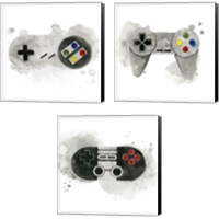 Framed Gamer  3 Piece Canvas Print Set