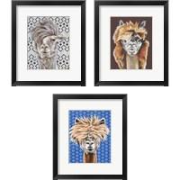 Framed Animal Patterns 3 Piece Framed Art Print Set