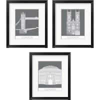 Framed London Landmark 3 Piece Framed Art Print Set