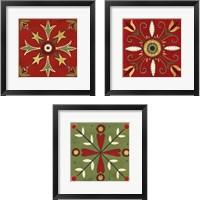 Framed Festive Tiles 3 Piece Framed Art Print Set
