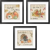 Framed Be Thankful 3 Piece Framed Art Print Set
