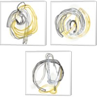 Framed String Orbit 3 Piece Canvas Print Set