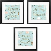 Framed Boss Ladies Mint 3 Piece Framed Art Print Set