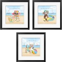 Framed Summer Paws 3 Piece Framed Art Print Set