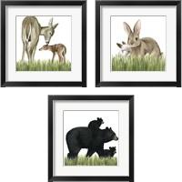 Framed Woodland Babes 3 Piece Framed Art Print Set