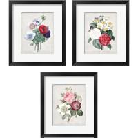 Framed Bouquet  3 Piece Framed Art Print Set