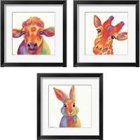 Framed Cheery Animals 3 Piece Framed Art Print Set