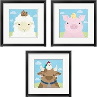 Framed Barn Buddies  3 Piece Framed Art Print Set