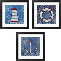 Framed Whimsy Coastal 3 Piece Framed Art Print Set
