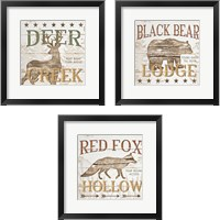 Framed Cabin Lodge 3 Piece Framed Art Print Set