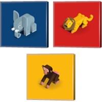 Framed Kids Animal 3 Piece Canvas Print Set