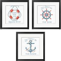 Framed Nautical Life 3 Piece Framed Art Print Set