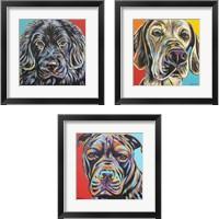 Framed Canine Buddy 3 Piece Framed Art Print Set