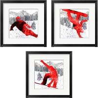 Framed Extreme Snowboarder 3 Piece Framed Art Print Set