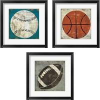 Framed Ball 3 Piece Framed Art Print Set