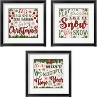 Framed Christmas 3 Piece Framed Art Print Set