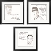 Framed Baseball Greats 3 Piece Framed Art Print Set