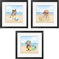 Framed Summer Paws No Words 3 Piece Framed Art Print Set