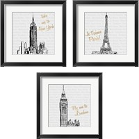 Framed Travel Pack 3 Piece Framed Art Print Set