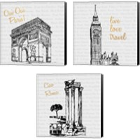 Framed Travel Pack 3 Piece Canvas Print Set