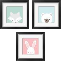 Framed Cuddly Animal 3 Piece Framed Art Print Set
