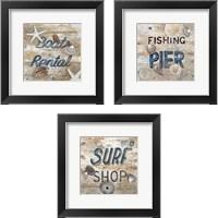 Framed Boat Rental 3 Piece Framed Art Print Set