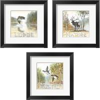 Framed Nature Lodge 3 Piece Framed Art Print Set